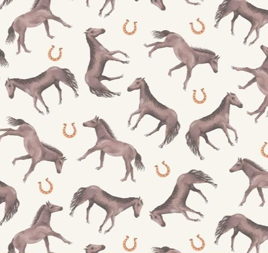Windham Fabrics - Desert Cowbocy - Lucky Horse - Cream