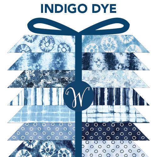 Windham Fabrics - INdigo Dyed Fat Quarter Bundle