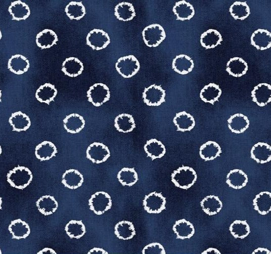 Windham Fabrics - Indigo Dyed -Tied- Dark