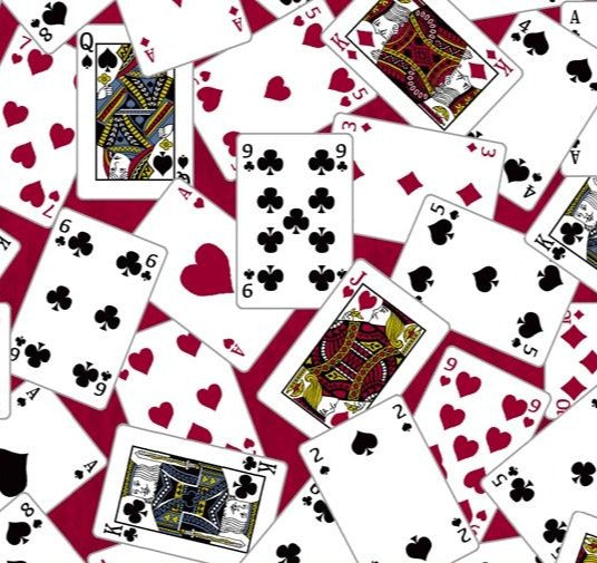Windham Fabrics -Mancave - Playing Cards - Red