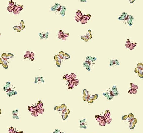 Windham Fabrics - Posy - Butterfly - Cream