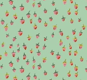 Windham Fabrics - Trixie - Field Strawberries - Aqua