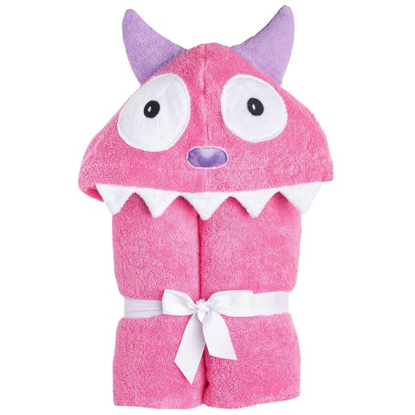 Yikes Twins - Child - Monster Pink Hooded Towels