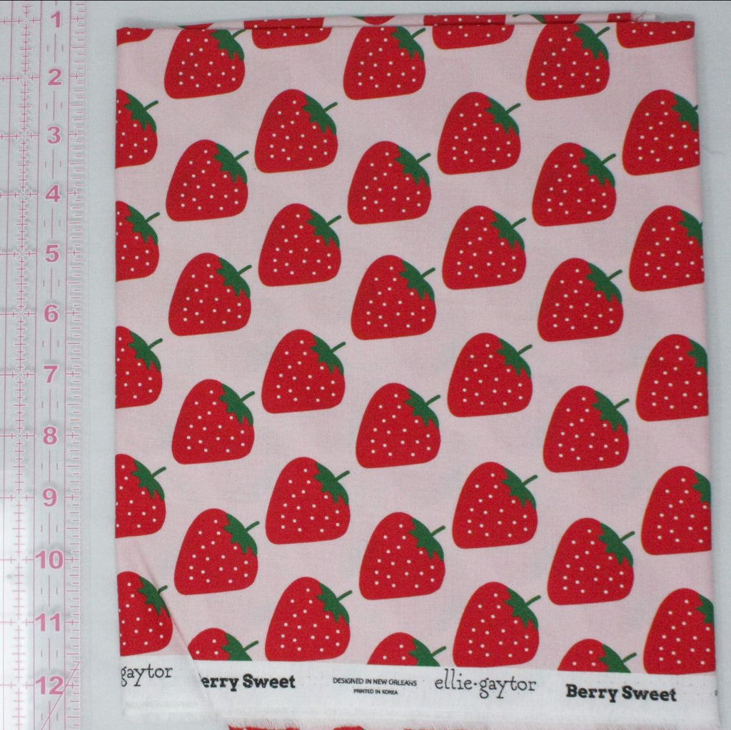 Elliegaytor Fabrics - Berry Sweet on pink background