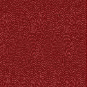 DEAR STELLA FABRICS - SCALLOP DOT CRANBERRY