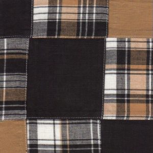 FABRIC FINDERS - BRONZE AND BLACK COTTON PATCHWORK FABRIC