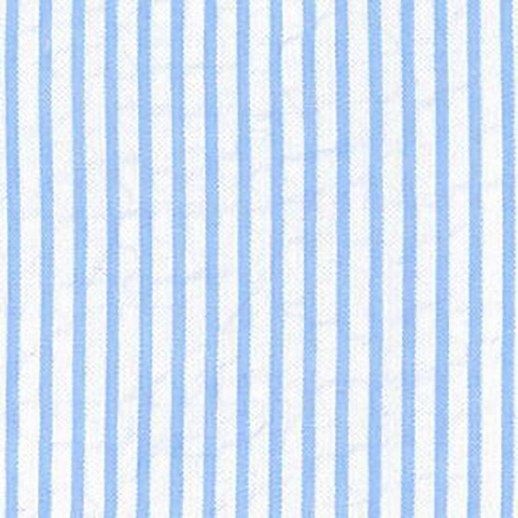FABRIC FINDERS FABRICS - STRIPED SEERSUCKER - BLUE