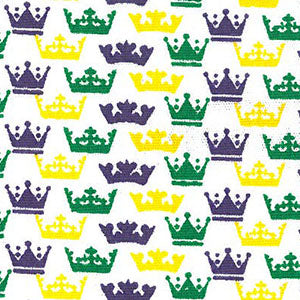 Fabric Finders Fabric - Crown Print Fabric – Mardi Gras