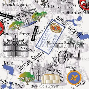 FABRIC FINDERS - NEW ORLEANS FABRIC: JACKSON SQUARE TOILE