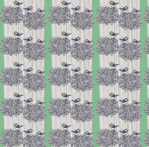 FREESPIRIT FABRICS - BIRDSEED - KELLY - BOOKHOU FOR ANNA MARIA'S CONSERVATORY
