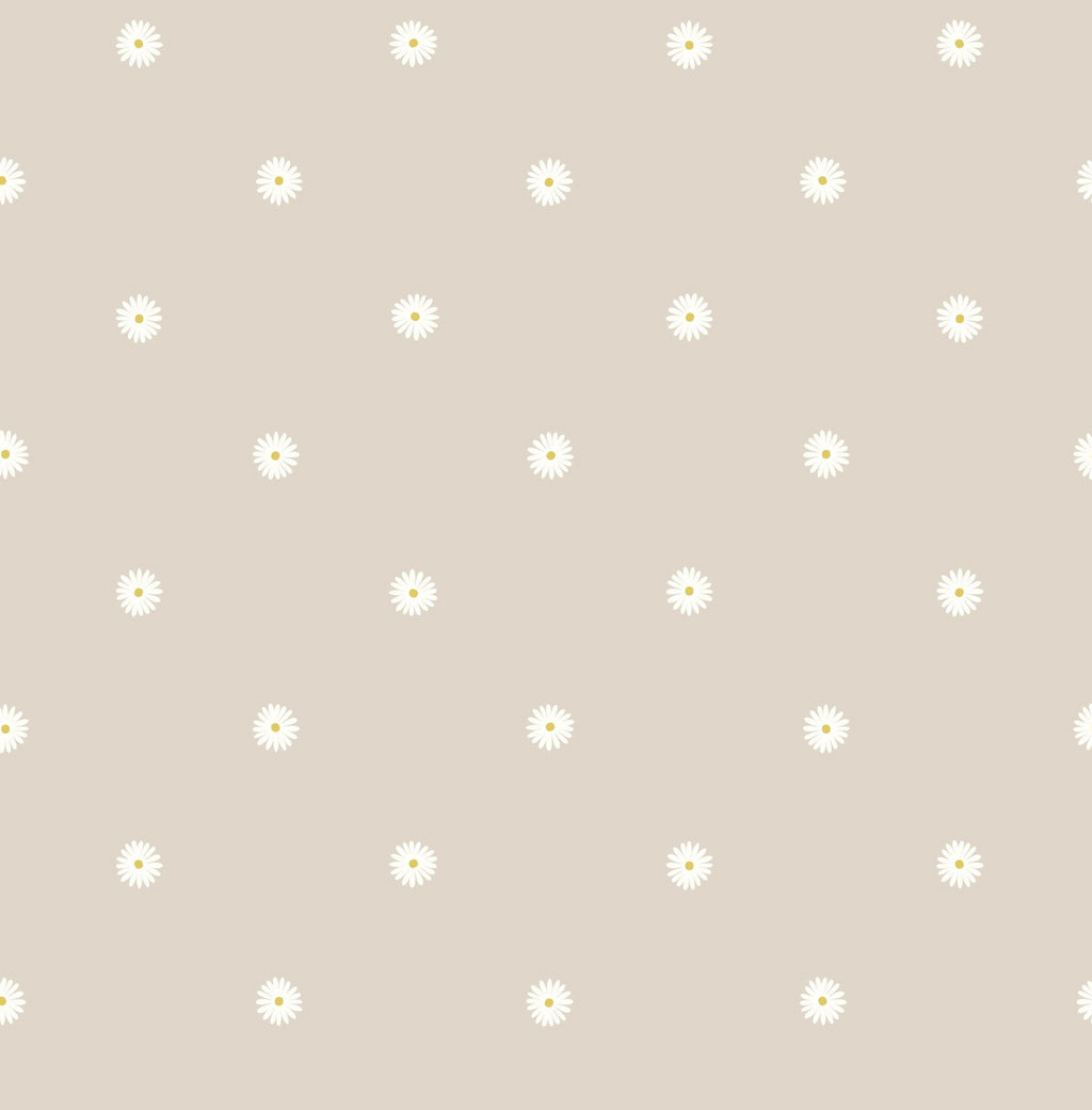 LEWIS & IRENE FABRICS - JOLLY -  DAISY ON DARK CREAM