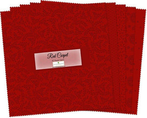 Qt - Fabrics -Red Carpet  - 10 Karat mini Gems - 10 x 10