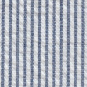 Fabric Finders Fabrics -  Striped Seersucker Fabric  – Navy