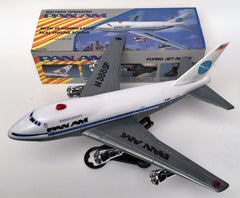 Vintage Battery Operated PAN AM Passenger Jet