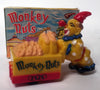 Vintage Hong Kong Monkey Nuts Clown Push Cart