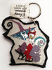 Disney Nightmare Before Christmas Lock, Shock, And Barell Key Chain