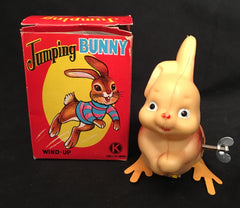 Vintage Wind Up Japan Jumping Bunny