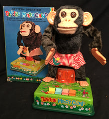 Vintage Battery Operated Japan Dancing Merry Chimp