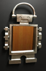 Wall Hanging Block Head Robot Mirror