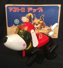 Vintage Japan Wind Up Astronaut Space Dog
