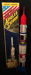 Vintage TN Nomura Battery Operated Two Stage Moon Rocket Apollo Saturn