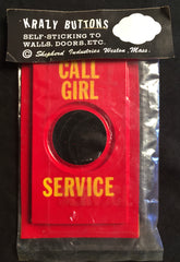 Vintage Call Girl Service Krazy Button