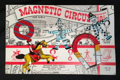 Vintage Magnetic Circus Tin Play Toy