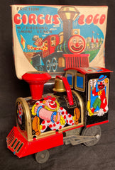 Vintage Japan Friction Circus Loco With Bobbing Smokestack