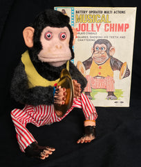 Vintage Daishin Japan Battery Operated Musical Jolly Chimp