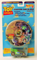 1996 Hot Wheels Toy Story Computer Cars CD-ROM Disk And Car