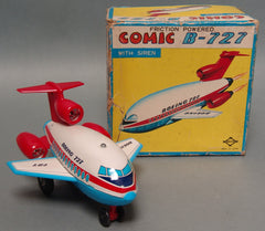 Vintage Japan Tin Boeing 727 Comic Jet