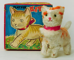 Vintage Japan Wind Up Playful Kitty