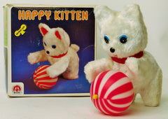 Vintage Wind Up Happy Kitten