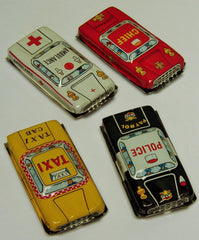 1950's Japanese Tin City Car Set