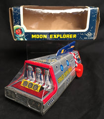 Vintage Wind Up Japan Tin Moon Explorer