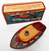Vintage Tin Japan Pop Pop Boat