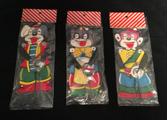 Dog Monkey Racoon Set Of Three Dime Store Musicians