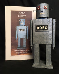 Wood Robo Robot by Artist Terri Lane