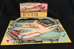 Vintage Japan Battery Operated Monorail Train Set