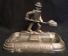 Iron Fireman Robot Advertising Ashtray