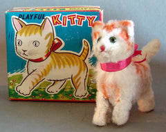 Vintage Japan Wind Up Playful Kiitty