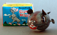 Vintage Japan Wind Up Mechanical Scurry Mouse