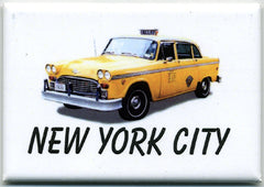 New York City Yellow Cab Fridge Magnet