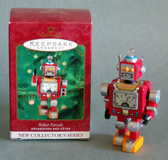 Tin Robot Parade Christmas Ornament