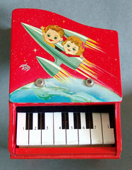 Super Cool 1950's Red Space Baby Grand Piano