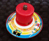 Vintage Japan Tin Whistling Space Top