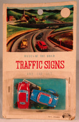 Vintage Japan Traffic Sign Set With Cars