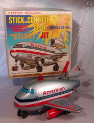 Vintage Japan American Airlines DC-10 Stick Control Stubby Jet