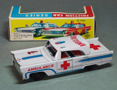 Vintage Japan Tin Friction Ambulance