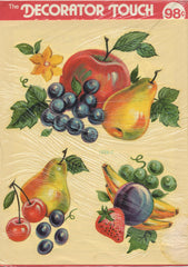VINTAGE MEYERCORD KITCHY KITCHEN FRUIT DECAL ART